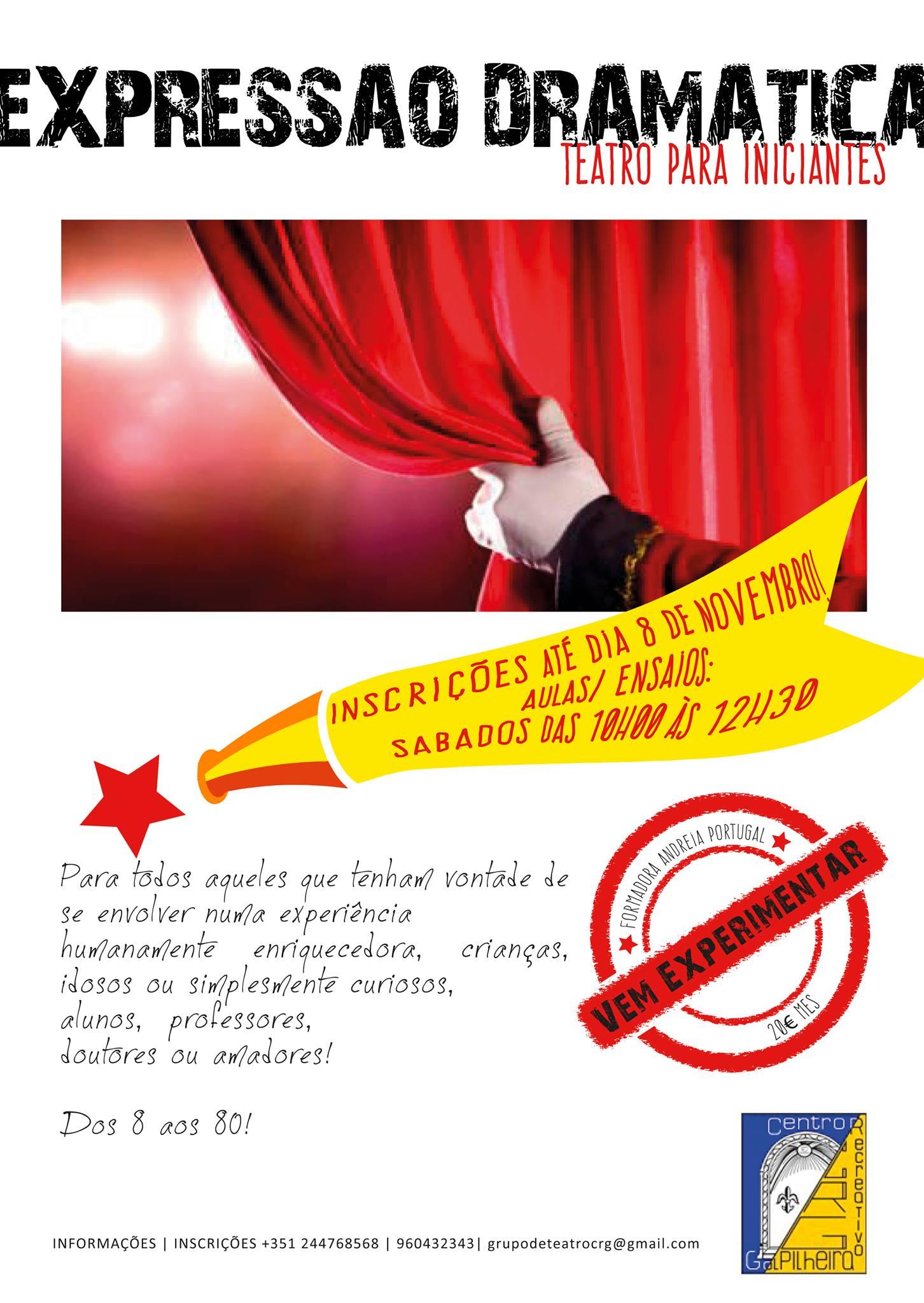 Expressão Dramática - Teatro para iniciantes