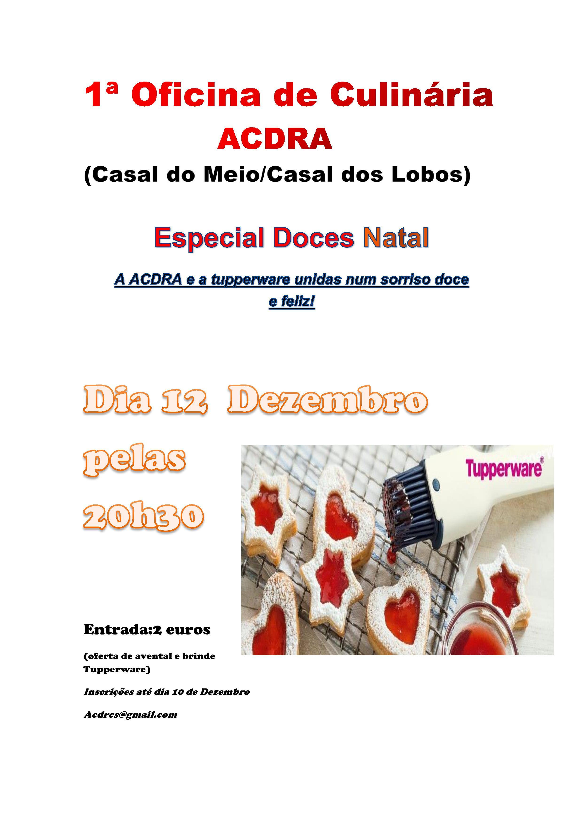 1ªOficina de Culinária da ACDRA