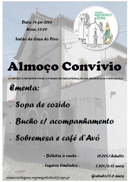 ALMOÇO - CONVÍVIO DO BUCHO