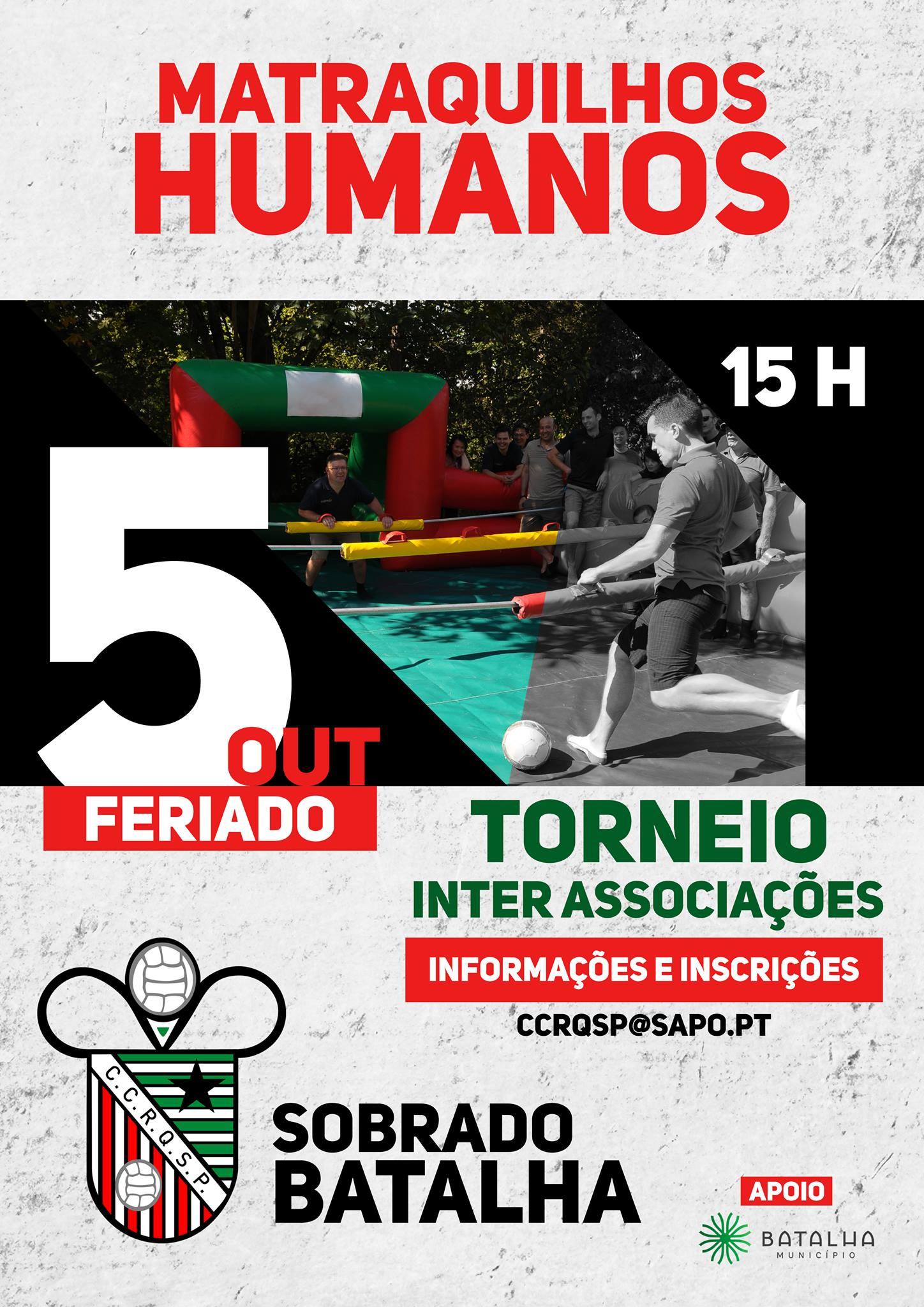 TORNEIO INTER-ASSOCIAÇÕES DE MATRAQUILHOS HUMANOS