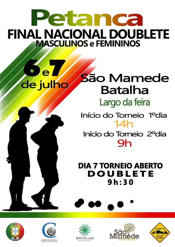 FINAL NACIONAL DOUBLETE MASCULINOS E FEMININOS DE PETANCA